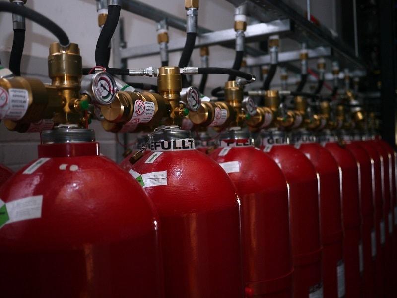 Fire extinguishant bottles